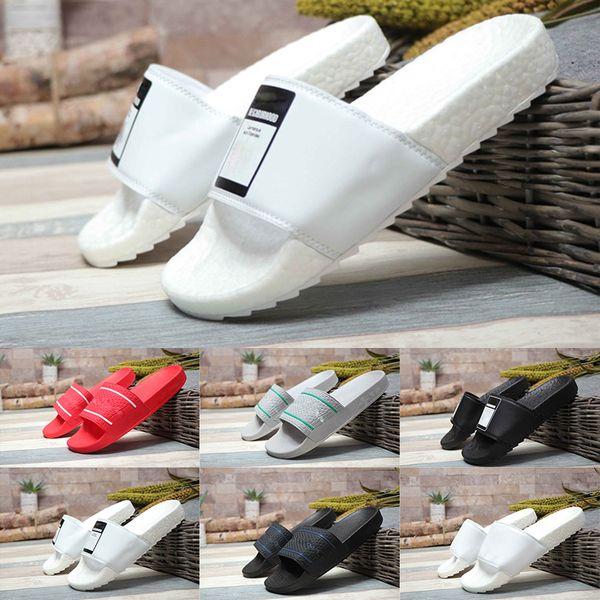 2019 Date HN Adilette Cloudfoam Slide Sandal Femmes Hommes De Luxe À Séchage Rapide Casual Peep Toe Garçons Filles Pantoufle De Mode Grand Plat Chaussures De Plage
