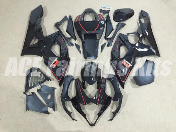Neue ABS Motorrad Verkleidungssätze passen für Suzuki GSXR1000 1000 K5 GSX-R1000 2005 2006 05 06 Karosseriesatz Custom Verkleidung schwarz rot