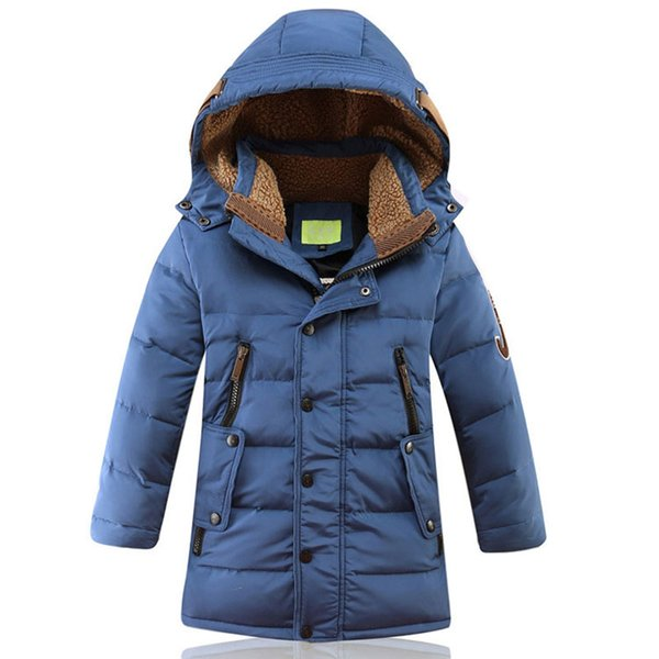 Per i bambini dei vestiti del ragazzo del bambino freddo inverno di spessore capispalla piumino ragazzo adolescente bambini vestiti antivento cappotti giacca parka