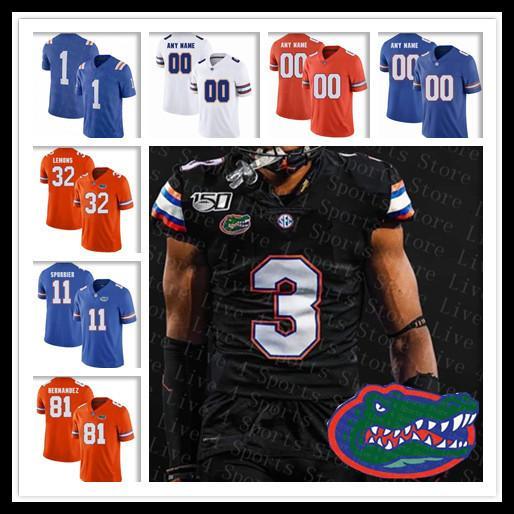 NWT 2019 Retro Florida Gators Schwarz-Jersey-Fußball 11 Kyle Trask 5 Emory Jones Kadarius Toney Emmitt Smith Kyle Pitts Steele Sutton 150.