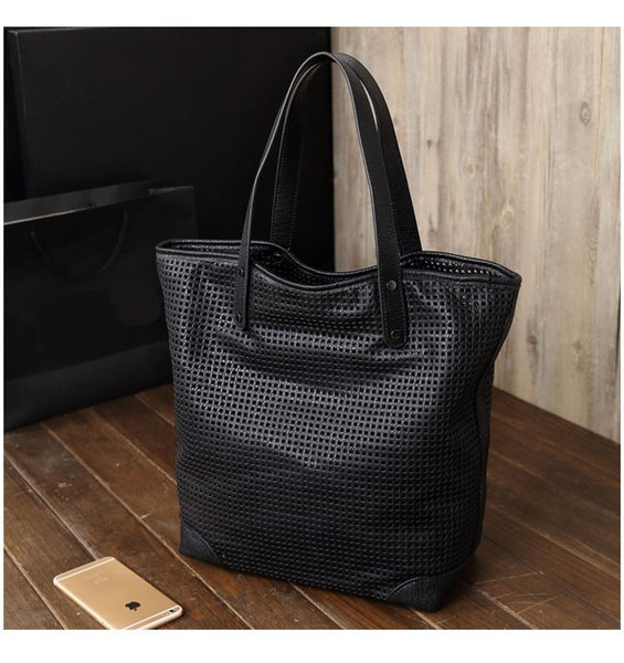 Hot autumn and winter big bag women's shoulder portable tide bag European and American style hollow tote bag