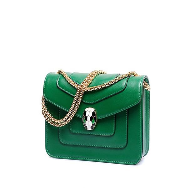 Designer Luxury Handtaschen Geldbörsen Großhandel Mode Kette Einzelner Schulterbeutel Slant Snake Head Bag Fabrik Preis Lucury Qualität Neue Ankunft