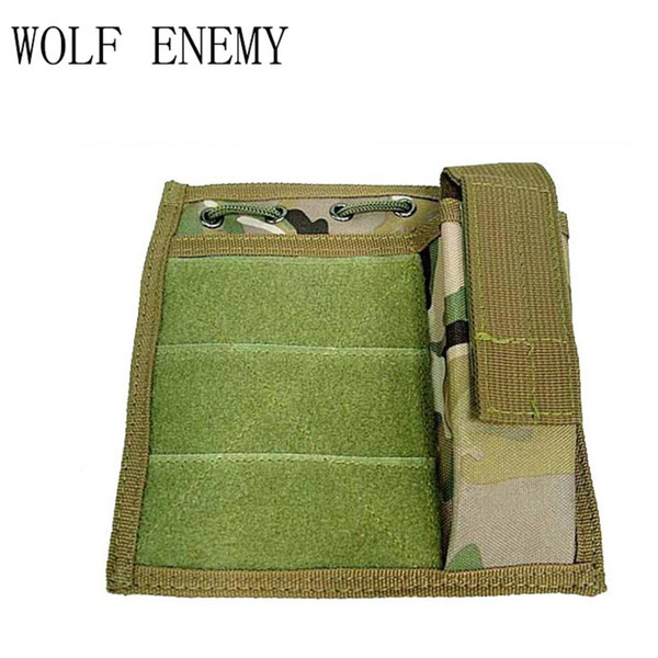 US Airsoft Military Molle Milspec MOD Map Torch Admin Pouch Black Camouflage Tactical pouch bag #171217