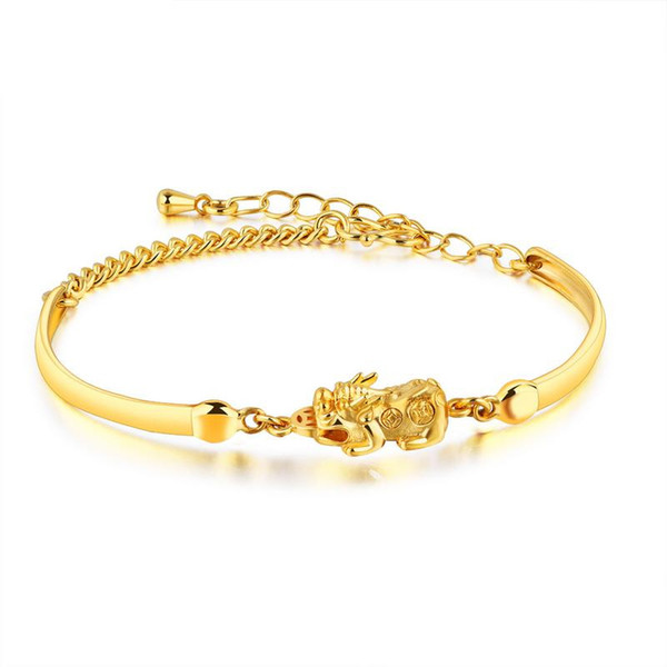 Simple European and American Bracelet Animals, Japan and Korea 18K Gold-plated Bracelet Jewelry To Send Girlfriend Temperament Fashion