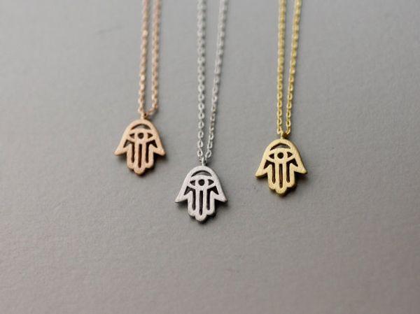 Neueste Auflistungs-Schmuck-Halskette, Hamsa Handschutzhalskette, Amulett-Halskette, Friedensgesundheitssymbol Jewelry-30pcs / lot