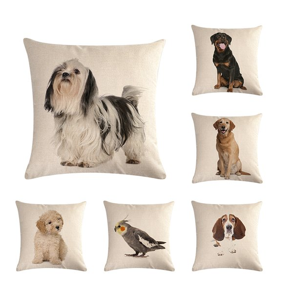 Awesome Dog Pattern Pillowcase Decorative Pillowcase Sofa Chair Cover Pillowcase 45 45Cm Home Decoration Patio Chairs With Cushions Oversized Outdoor Lamtechconsult Wood Chair Design Ideas Lamtechconsultcom
