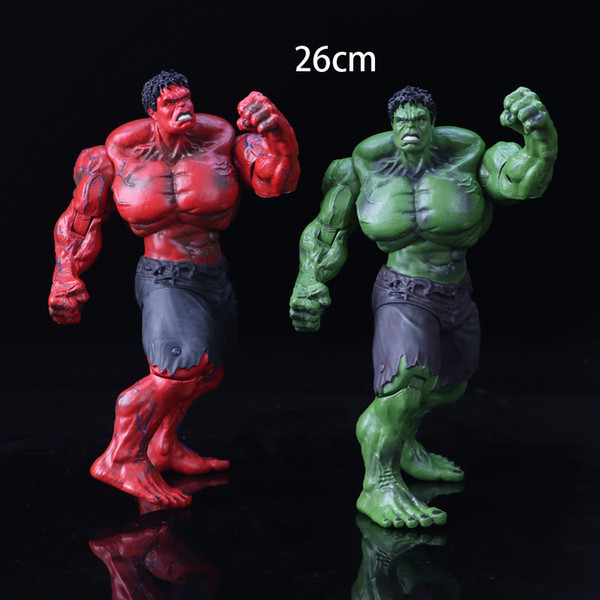 "Red Hulk Action Figure The Avengers 10"" PVC Figure Toy Hands Adjusted Movie Lovers Collection Free shipping"