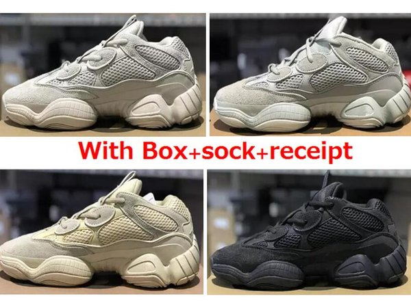 500 Blush Desert Rat 500 Super Moon Yellow running shoes 500 Salt Utility Black sneaker sports shoes with box free shipping