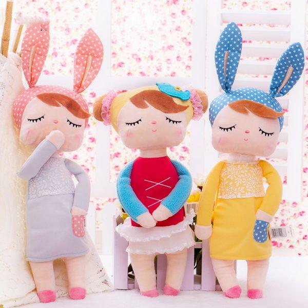 Fashion Rabbit Dream Doll Stuffed Toys Plush Animals Kids Toys for Girls Children Boys Kawaii Baby Plush Toys Cartoon Mini Angela Rabbit
