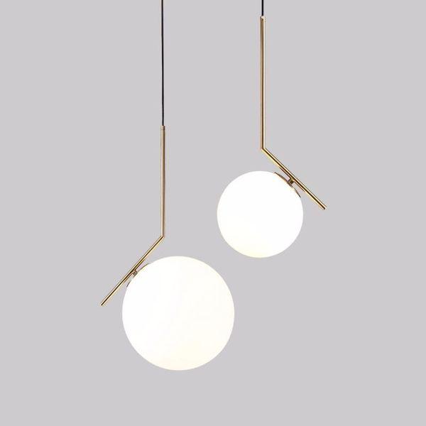 Lampadario luce sfera Modern Luxury Glass LED pranzo Salone Camera lampada a sospensione Oro Cromo Luster sospensione per illuminazione Camera