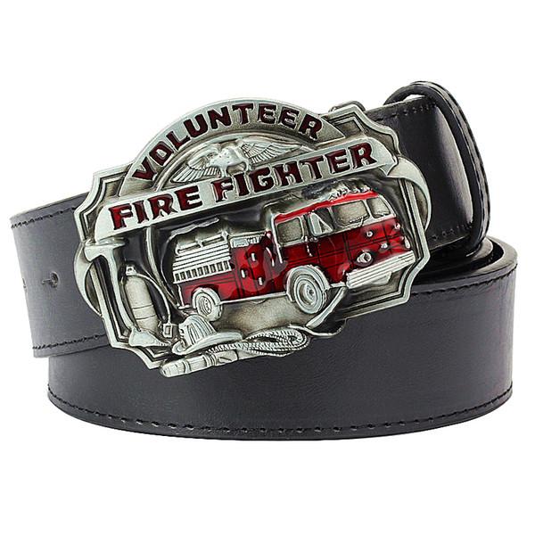 Ceinture de pompiers hommes de métier de pompier ceinture boucle pompier pompier signe de brigade signe pompier combattant volontaire de ceinture