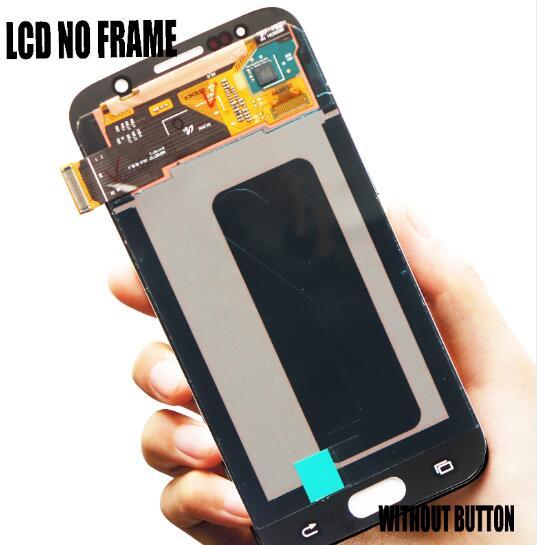 Super Amoled for Samsung Galaxy S6 Edge G925 G925F G925A LCD Display With Frame Touch Screen Digitizer Full Assembly Replacement
