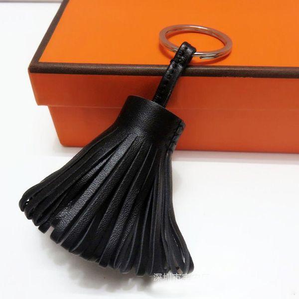 Luxus personalisierte handgemachte Echtleder Quaste Schlüsselbund Metall Schlüsselanhänger Frauen Tasche Charme Zubehör Handtasche Schlüsselanhänger Auto Anhänger