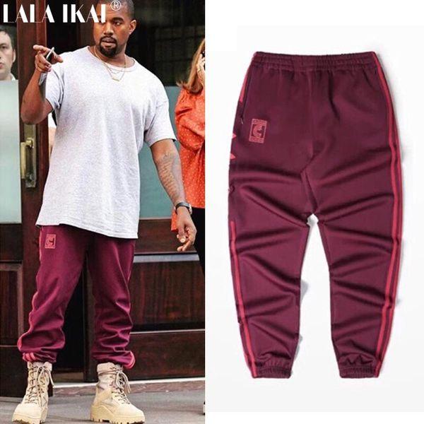 All'ingrosso Kanye West Stagione 4 collo a giro Pantaloni sportivi S-3XL Calabasas Pantaloni uomini sciolti Pantaloni degli uomini comodi pantaloni elastici Hip Hop KMK0050-4