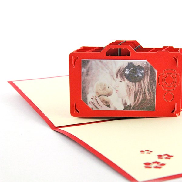 1pc Creative Camera 3D Photo Storage Greeting Card Memory Card Creative for Woman Lady Girl