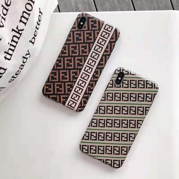 Оптовый телефон дизайнера для Iphone 6 / 6S 6P / 6SP 7/8 7p / 8p X / XS Xr Xs Макс фирменный чехол с роскошным письмом двойной F ТПУ защитный чехол