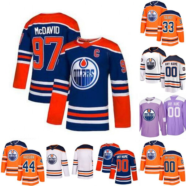 Herren Edmonton Oilers 97 Connor McDavid 93 Ryan Nugent-Hopkins 19 Mikko Koskinen 28 Kyle Brodziak 44 Zack Kassian Eishockey-Trikots S-3XL