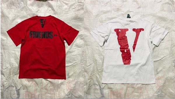 Vlone T-Shirts Hombres Mujeres de Alta Calidad Pop Up Fragmento de Papking Top Tees Camiseta de Moda V Friends Vlone Camisetas