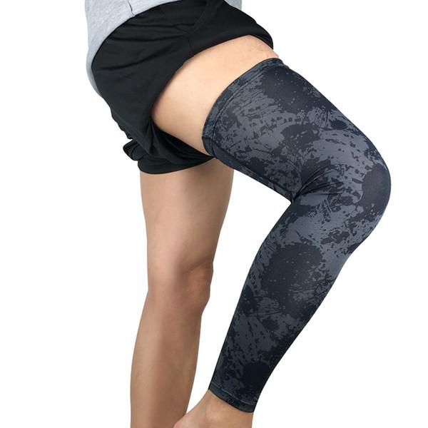 1 шт. Наколенники с длинным дышащим термальным протектором для ног фитнес спортивная одежда аксессуары защитная накладка для взрослых коленного бандажа