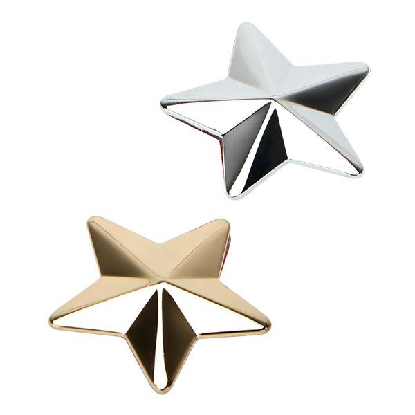 Accessoires extérieurs Stickers Lepeee Golden / Silver Autocollants et décalcomanies 3D STAR-CAR-STAR-STOCKLING Autocollant Autocollant en métal Accessoires auto