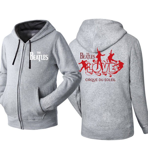 2019 The Beatles Music Rock And Hooded Cardigan For Men Zipper Comfy Spring Autumn Hoodies Long Sleeve Sweatshirts Male Jackets Tracksuit From