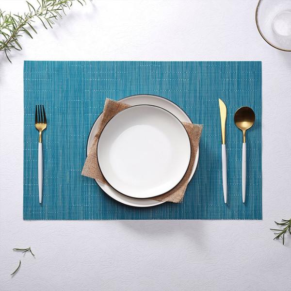 Retângulo Hotel Bambu Projeto Mesa Placemat Isolamento Térmico Mat Mesa De Vidro De Água Mat Mat Prato De Jantar Mat