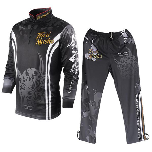 2020 fishing pant fishing shirt sun-protective clothing ultrathin summer men's long sleeve sweat-absorbent quick drying suit thumbnail