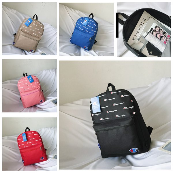 6styles Letter printed bag backpack storage bag outdoor school bga fashion student travel shoulder hangbag FFA2243