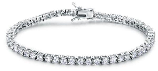 S925 argent luxe designer bijoux femmes bracelets plaqué réglable bracelet en alliage de zircon cubique bijoux bracelet de tennis des femmes
