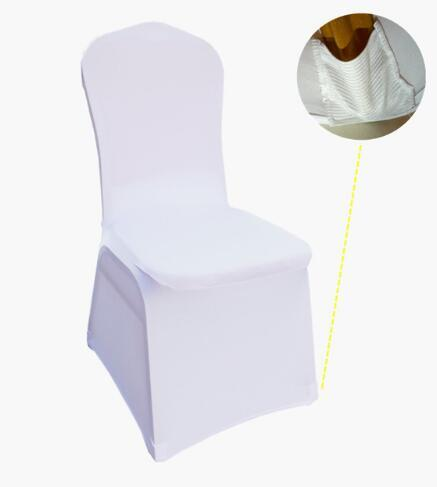 IN stock hotel chair cover cloth Wedding White Chair Covers Reataurant Banquet Hotel Dining Party Lycra Polyester Spandex outdoor