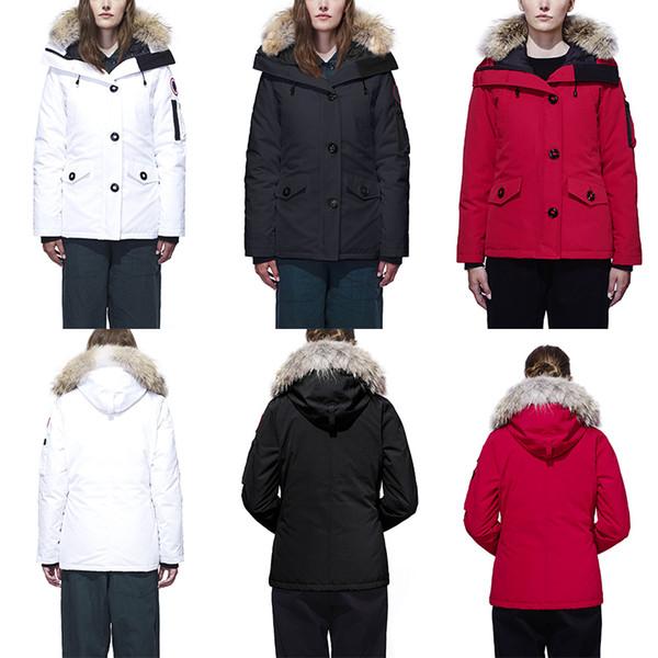 muticolor 2020 marca Canadá para mujer abajo abrigos esquimales nuevo invierno cálido y resistente al viento gruesa impermeable delgado del color sólido de ganso por la chaqueta femenina