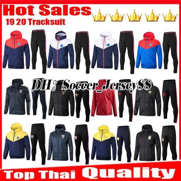 New 2019 Training suit Tracksuit Real Madrid Flamengo River Plate Sao Paulo Marseille SOCCER JERSEY FOOTBALL kits jacket New 2019 Tracksuit