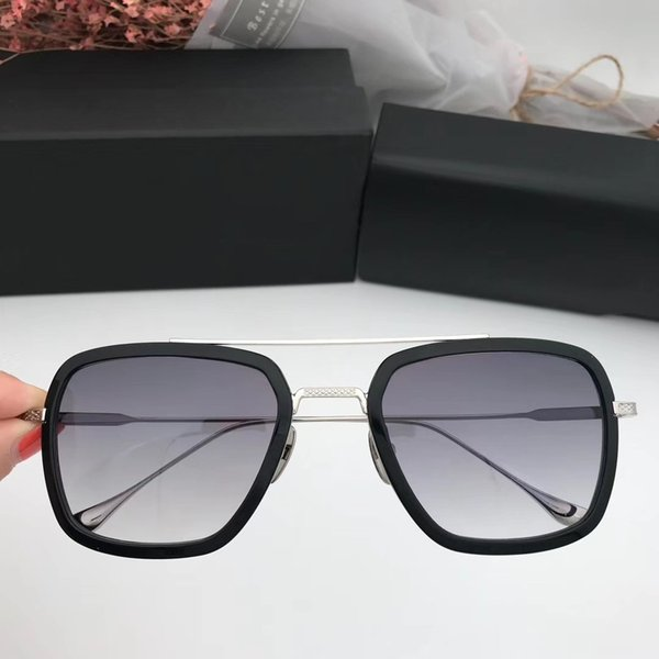 black silver with grey lens