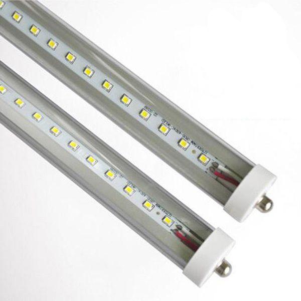 8ft FA8 single pin T8 LED luce tubo lampadine SMD2835 fluorescente 2.4 M 8ft SMD2835 192 leds 45 W AC85-265 V