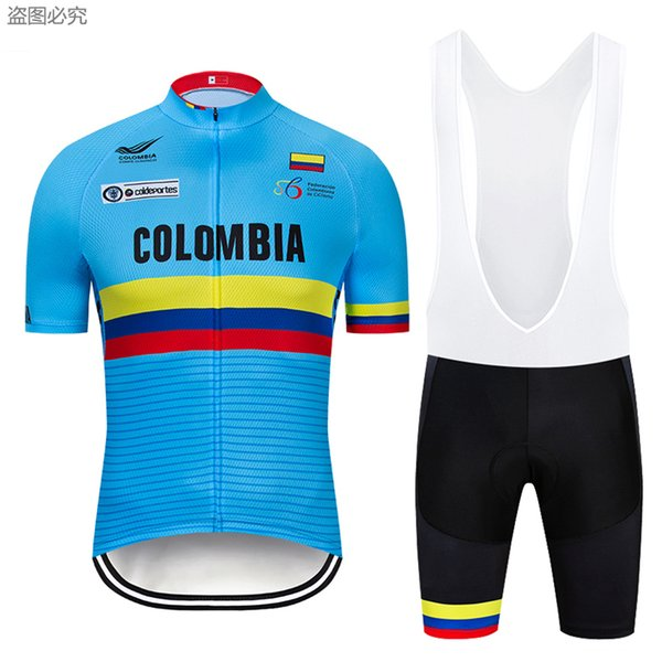 best selling Free Shipping 2019 NEW Colombia cycling jersey 3D gel bike shorts suit quick dry team pro bike jersey mens summer cycling wear