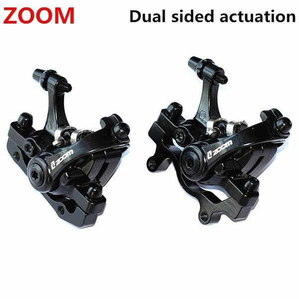 1 par ZOOM freno de disco trasero de bicicleta de aleación de aluminio negro Mountain Road MTB bicicleta pinza mecánica frenos de disco ciclismo doble freno