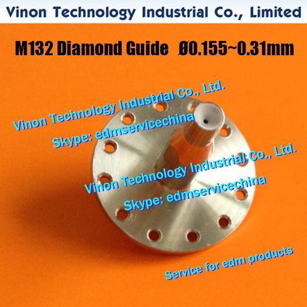 Guide-fil M132 Ø0.205mm X053C834G53 supérieur pour machine Mitsubishi SX.SB.SZ.CX.FX.FA X056C833G54, DA766A, DA76600, DU31000 Guide de filière (U)