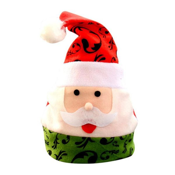 Multi-designs Christmas Hats Cute Santa Claus Snowman Pattern Hats Christmas Adult Kids for Xmas Party Home Shop Decoration