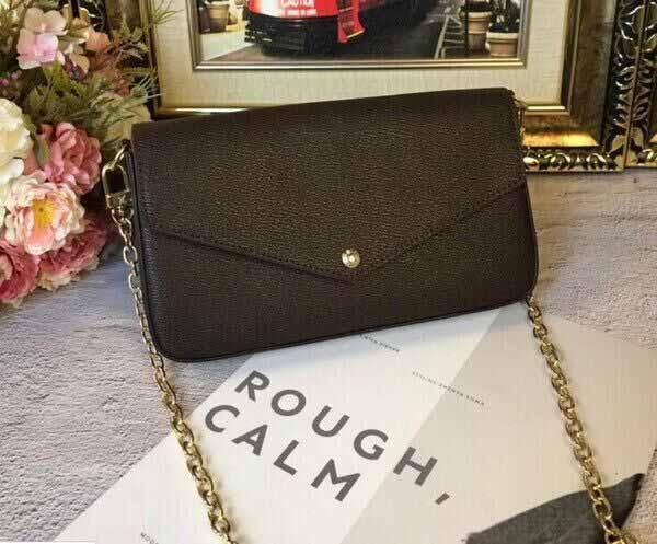 best selling Hot Fashion Classic Women Designer Bag Print Flowers 3 in 1 Chain Bag Genuine Leather Card Wallet Crossbody Purse Shoulder Messenger Wallet