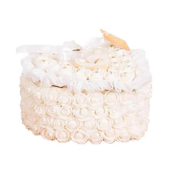 1 Adet Kalp Şeklinde Gül Çiçekler sevgililer Günü Hediye Yüzük Kutusu Romantik Düğün Takı Çantası Yüzük Taşıyıcı Yastık Yastık Tutucu