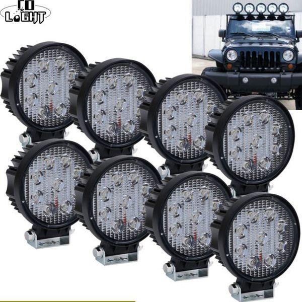 5D 4.3inch Offroad 27W LED Light Bar Spot Floodlight for Jeep ATV Boat SUV 4WD 4x4 Truck Tractor LED Work Light 12V 24V