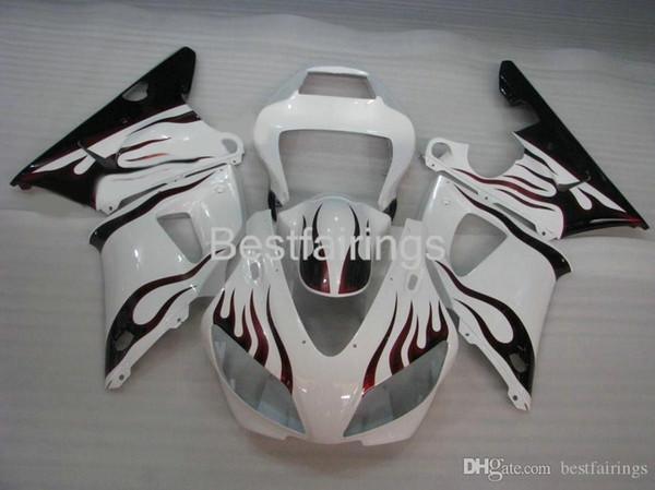 ZXMOTOR 7gifts fairing kit for YAMAHA R1 1998 1999 white black fairings YZF R1 98 99 ER46