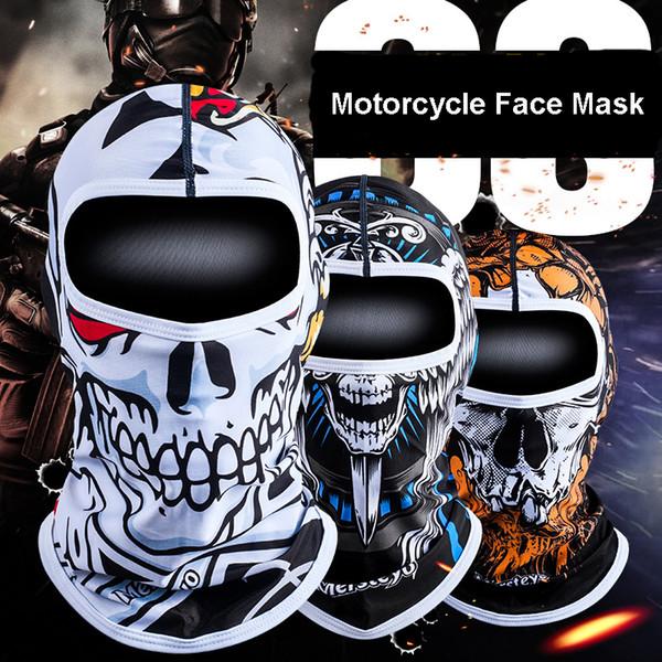 motorcycle face mask skull facekini ski balaclava ghost tiger neck gaiter outdoors cycling anti-uv quick dry scarfs