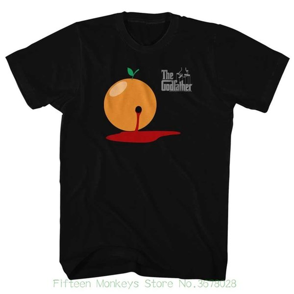 Herren T-Shirt Herren Kleidung Plus Size Der Pate Blutorange Schwarz Herren Kurzarm T-Shirt
