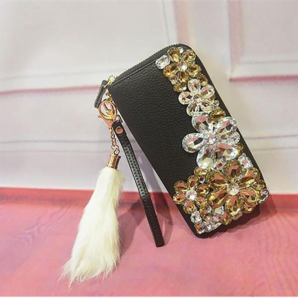 Women Leather Weave Clutch Wallet Long Card Holder Purse Handbag Black Fast US