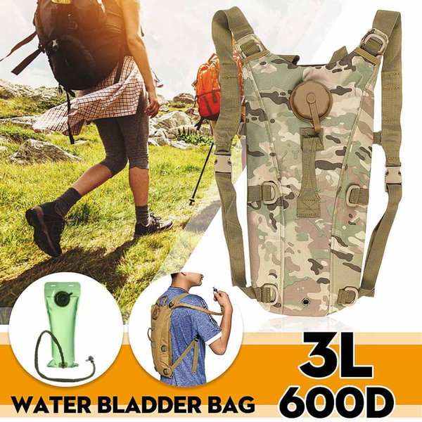 top popular 3L Water Bag Molle Tactical Hydration Backpack Outdoor Camping Water Bladder Bag For Cycling Container Outdoor Sports 2019