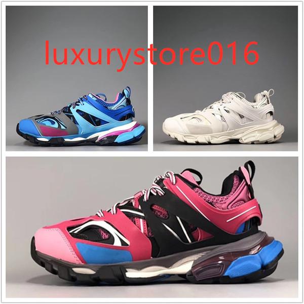 Triple S 3.0 Nova cor rosa azul branco Tess S homens mulheres Clunky Sapatilha Sapatos Casuais Sapato De Grife Com Saco de Pó