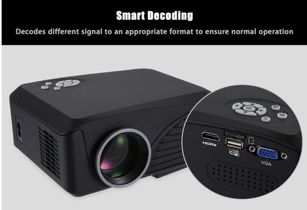 new fashion h88 LED projector 1000 lumens projector 1080P projector with USB HDMI VGA AV Micro SD slot remote control Mini Cool