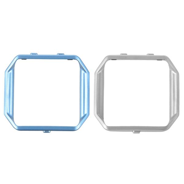 2 Piece Stainless Steel Metal Watch Frame Holder Shell for Blaze Smart Watch, Light Blue & Silver