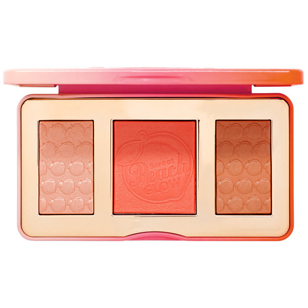 Free shipping Face Makeup Long lasting Faced Sweet Peach Glow Peach-Infused Highlighting Blush Palette 8.5g
